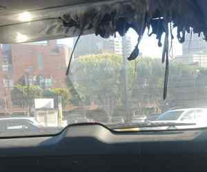 parabolic mirror in car