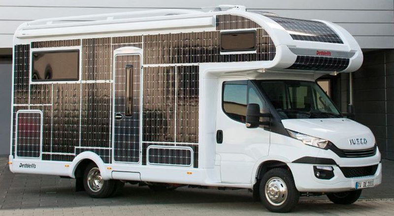 Solar Panel Covered RV By Dethleffs Doesn't Require Fuel