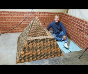 Corey Nielsen Is Building the World's Largest Coin Pyramid