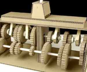 You Can Learn How A Gearbox Works Using This Cardboard Gearbox