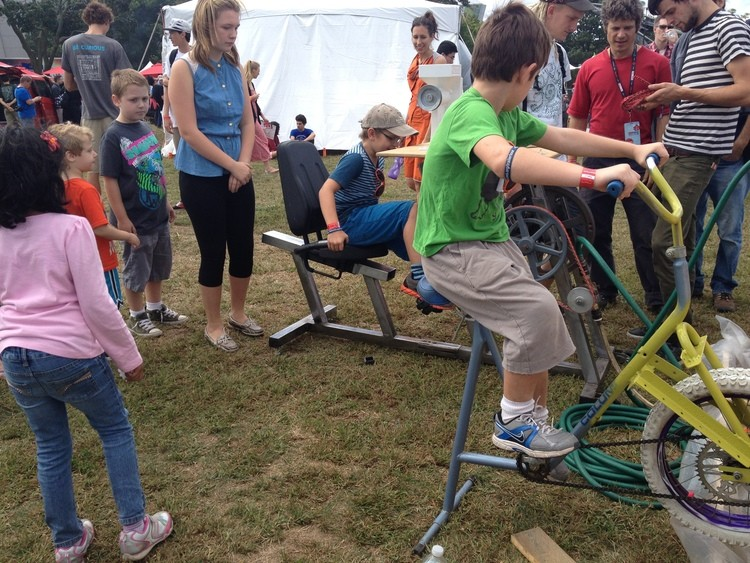 Children testing out the prototype units (Photo: Pedal Power)