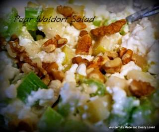 Pear Waldorf Salad