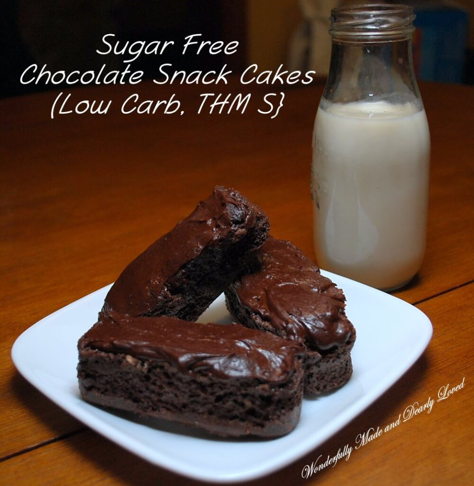 Sugar Free Chocolate Snack Cakes Low Carb THM S