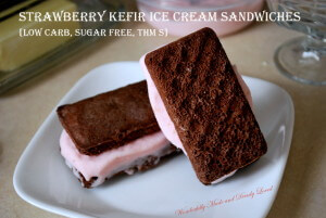 Strawberry Kefir Ice Cream Sandwiches