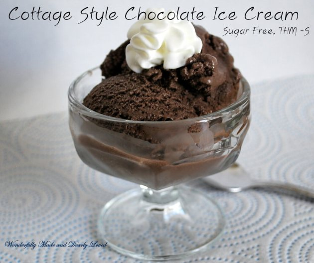 Cottage Style Chocolate Ice Cream