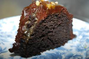Brownie Caramel Cake (THM~S, Low Carb)