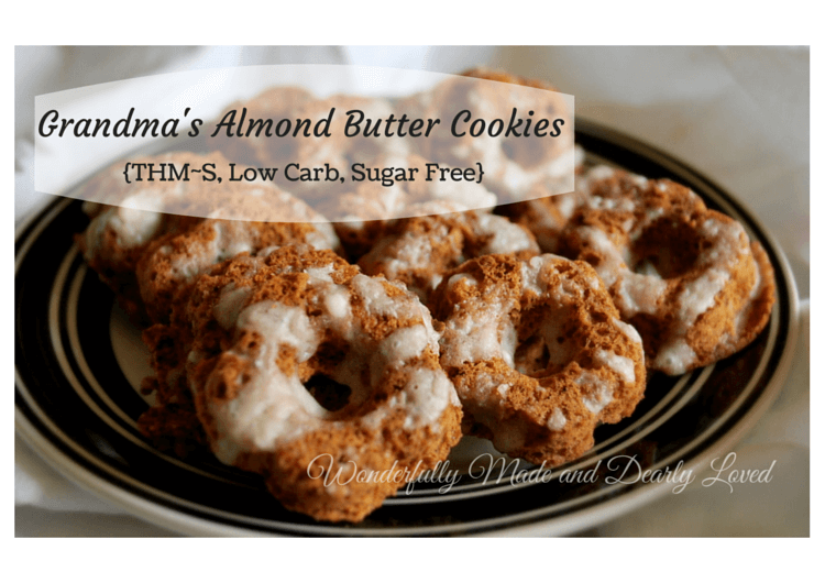 Low Carb and Sugar Free Grandma's Almond Butter Cookies (THM~S, Gluten Free)