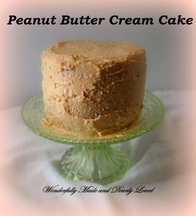 Peanut Butter Cream Cake, Pedestal