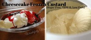 Cheesecake Frozen Custard {sugar free, thm~S, low carb}