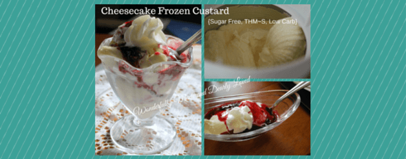 Sugar Free Cheesecake Frozen Custard (THM~S, Low Carb)