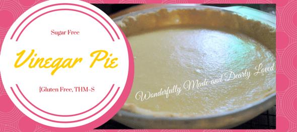 Sugar Free Vinegar Pie (Gluten Free, THM~S)