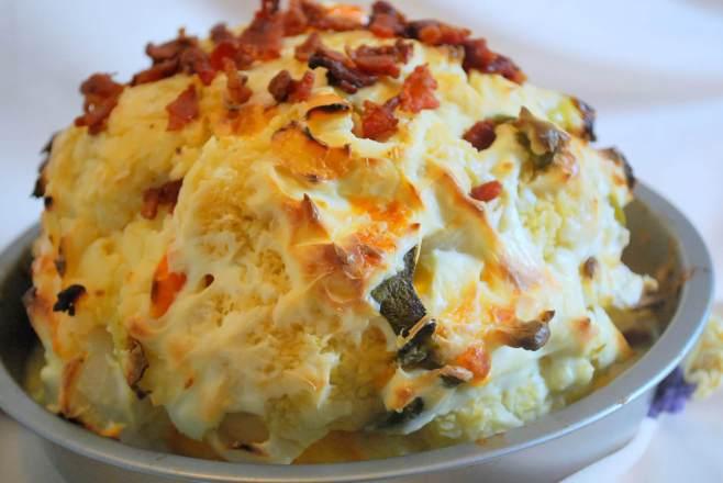 Cheddar Jack Cauliflower Bomb