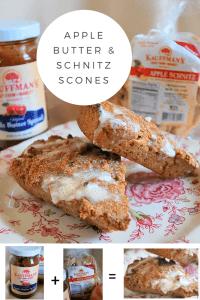 Apple Butter and Schnitz Scones