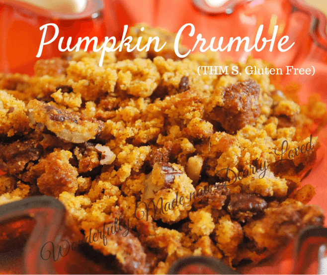 Pumpkin Crumble (THM S, Gluten Free, Low Carb)