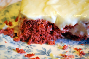 Red Velvet Cake for one that is low carb, trim healthy mama friendly (S) and wonderful!