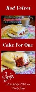 Red Velvet Cake for One (Low Carb, THM S)
