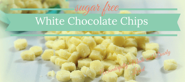 White Chocolate Chips (sugar free, Low Carb, THM S) stevia sweetened baking chips