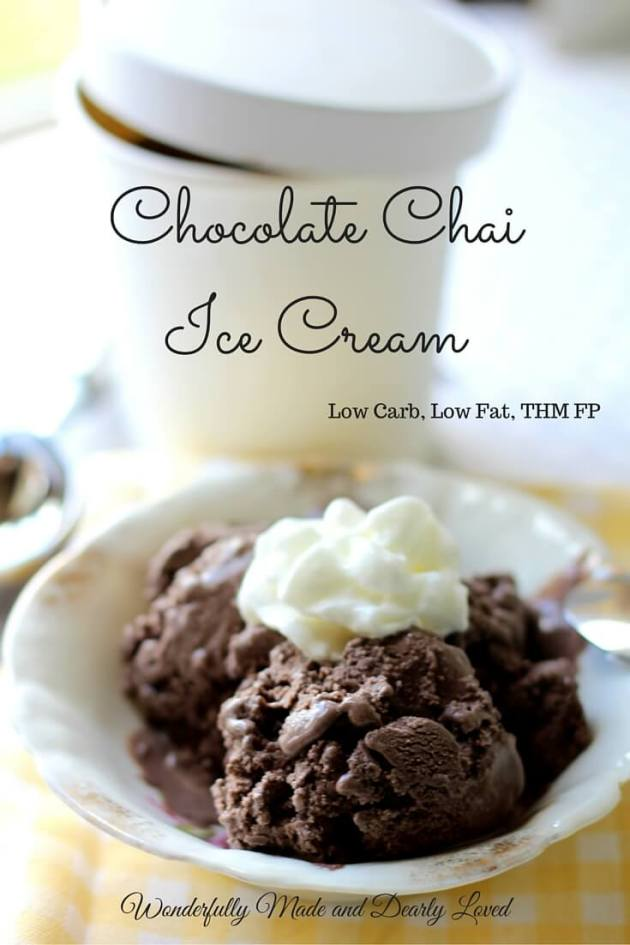 Chocolate Cai Ice Cream (Low Carb, Low Fat, THM FP)