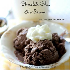 Chocolate Chai Ice Cream (Low CArb, Low Fat, THM FP)