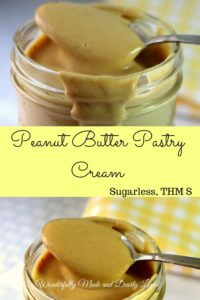 Peanut Butter Pastry Cream ( Sugar Free, THM S, Low Carb)