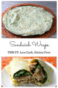 Slimming Sandwich Wraps (THM FP, Low Carb, Low Fat, Gluten Free)