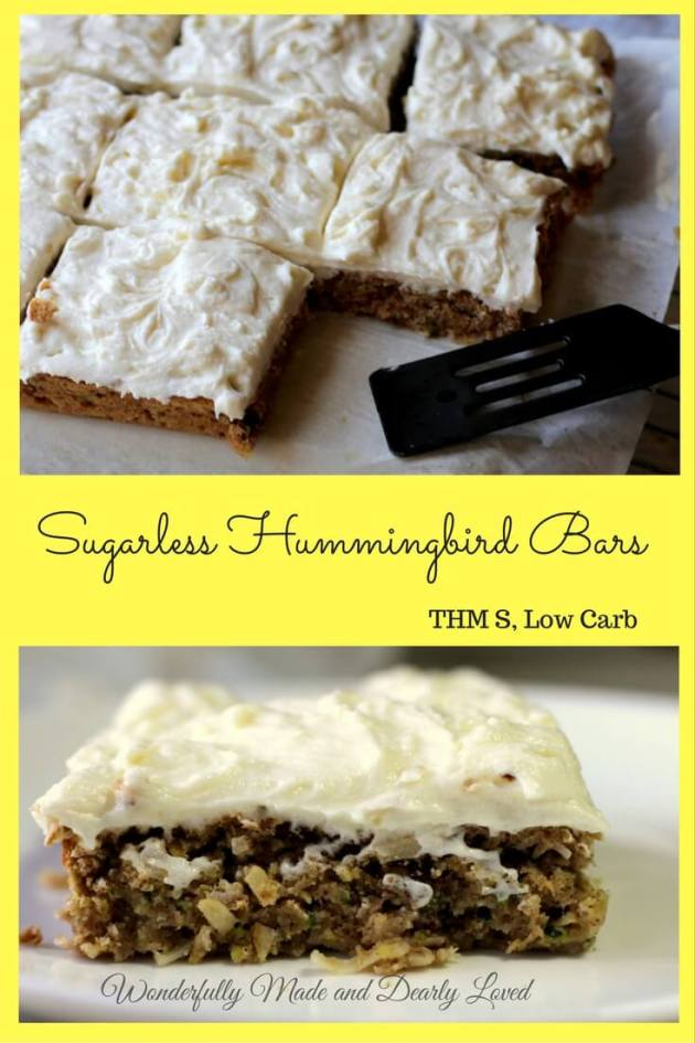Sugarless Hummingbird Bars (Gluten Free, THM S, Low Carb)