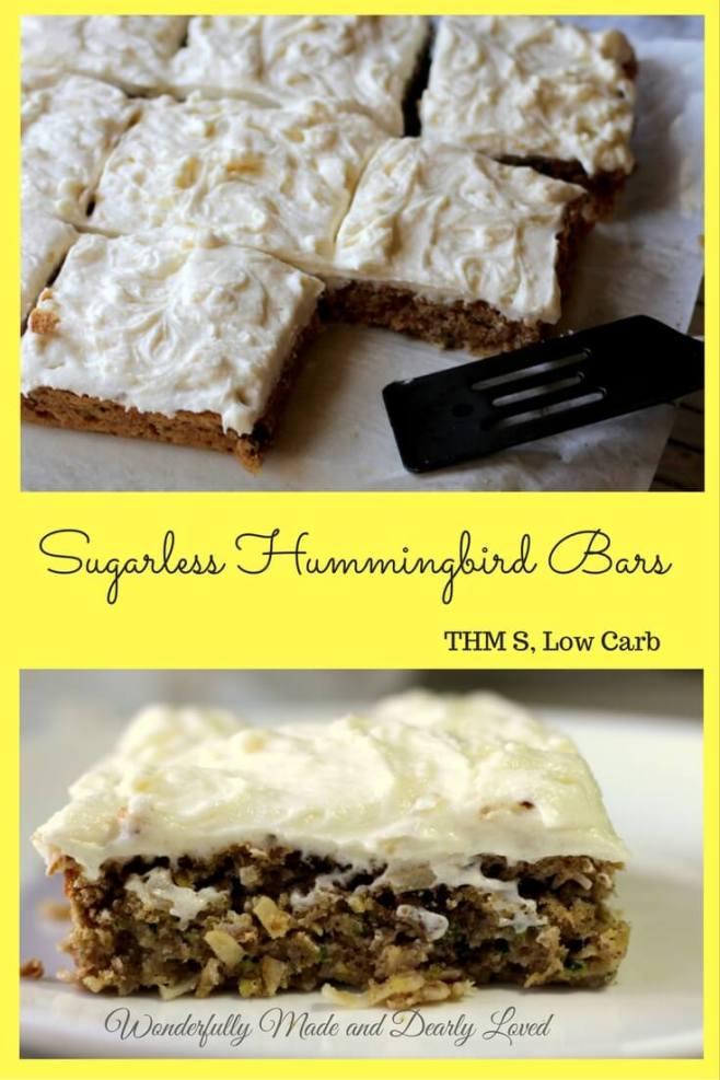 Sugarless Hummingbird Bars (Gluten Free, THM S, Low Carb)