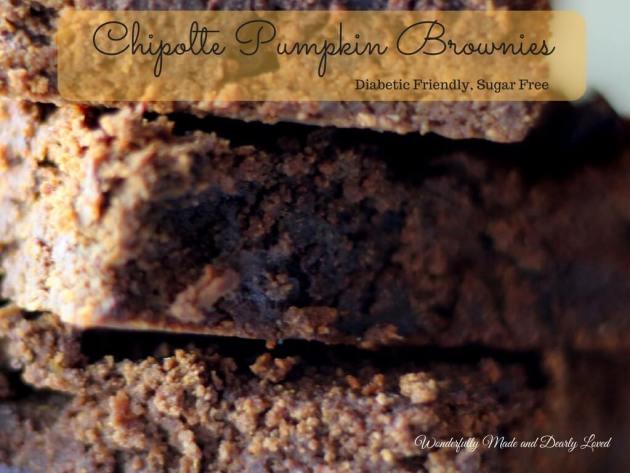 Chipolte Pumpkin Brownies (THM S-Helper, Sugar Free, Gluten Free)