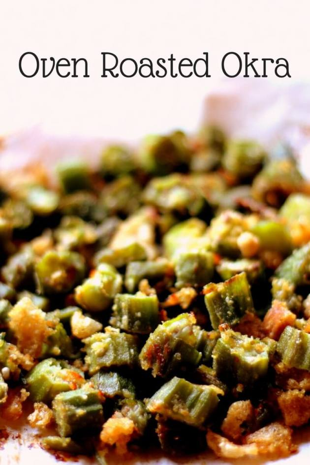 Oven Roasted Okra that is great as a side or a snack in your Trim & Healthy Journey.