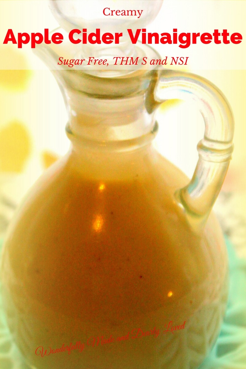 A sugar free Creamy Apple Cider Vinaigrette similar to Chik Fil A and Beef A Roo.