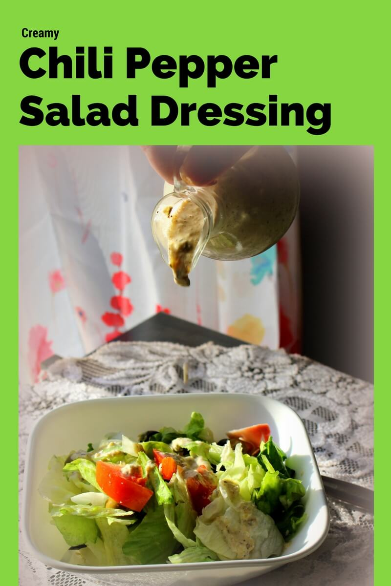 Creamy Chili Pepper Salad Dressing (THM S, Low Carb)