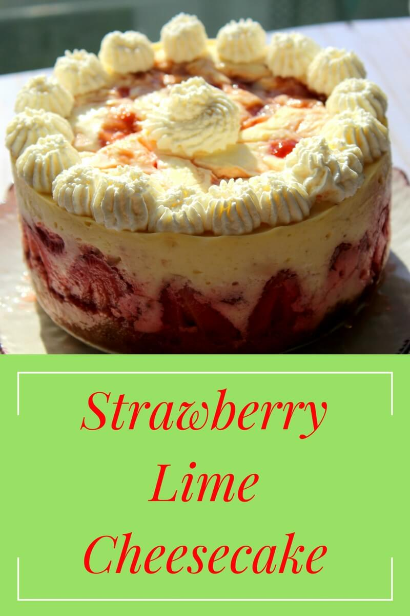 Strawberry Lime Cheesecake (THM S, Low Carb)