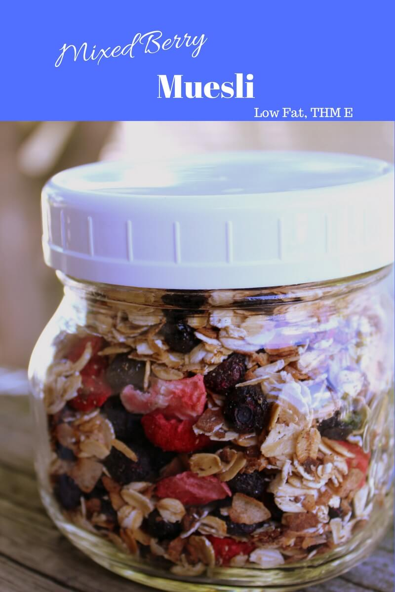 Mixed Berry Muesli is a great low fat trim healthy mama energizing cereal option.