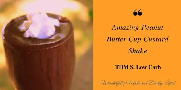Rich and Creamy Peanut Butter Cup Custard Shake