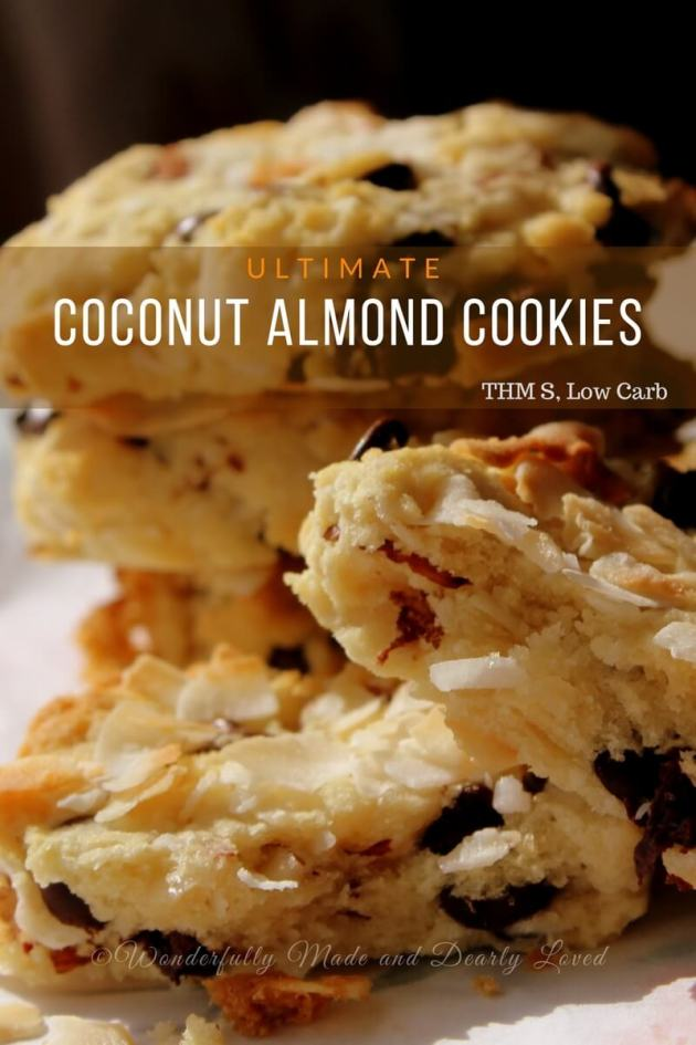 The ultimate Coconut Almond Joy Cookies for your Trim Healthy Mama journey.#Healthy #Cookies #AlmondJoy #Coconut #LowCarb