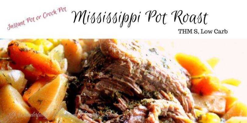 Mississippi Pot Roast (THM S, Low Carb)