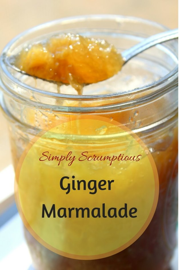 Simply Scrumptious Ginger Marmalade makes an amazing healthy condiment in your trim and healthy kitchen.
