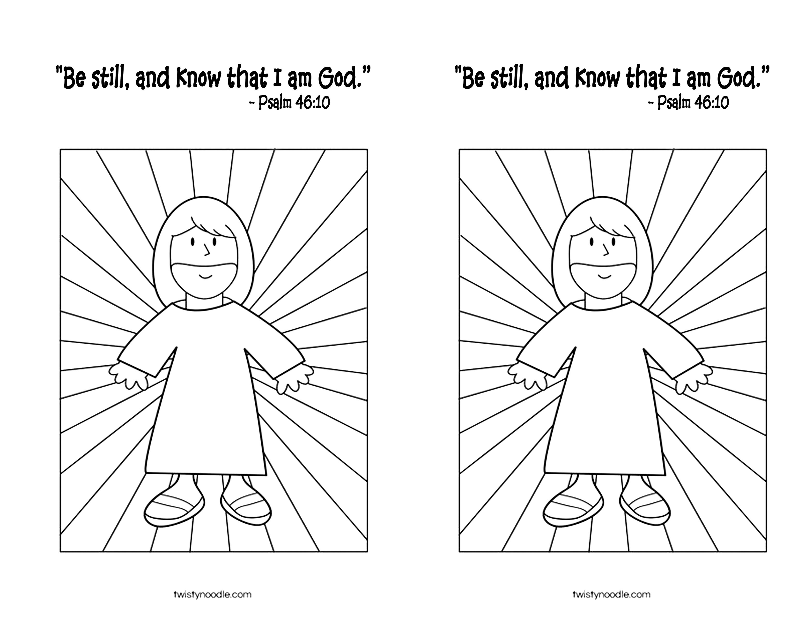 Psalm 46 10 Worksheet