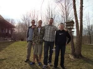 Josh, Jesse, Mr. H & Levi