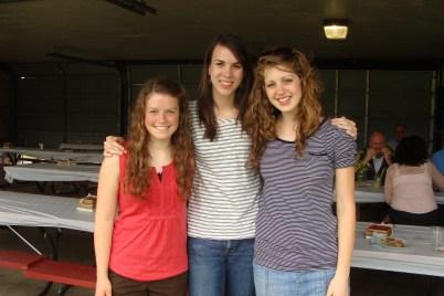 Sarah, Christina and Lydia
