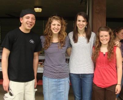 Caleb, Lydia, Christina and Sarah