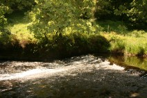The fast flowing river