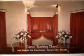 1970 Era Photo - Sunset Wedding Chapel, Carson City, NV. Where Ron and Susan exchanged vows.