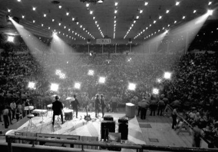 The Beatles, Houston Coliseum, 1965. The only non-stadium date on the tour!