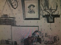 Custer had a pic of himself hanging in his house, LOL