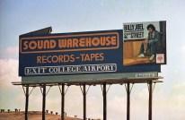 Sound Warehouse billboard - Houston, Texas