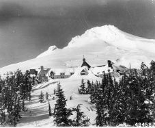 The Overlook Hotel (in real life it's the Timberline Lodge in Oregon).