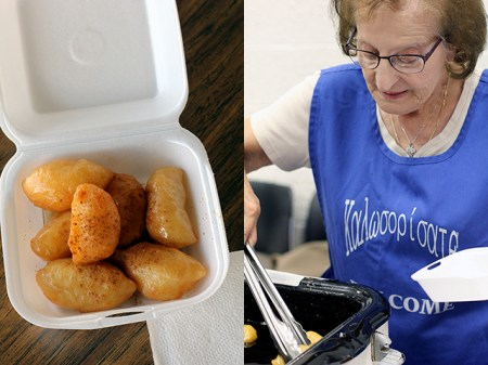Loukoumades: the delicious danger of fried dough bathed in warm honey syrup.