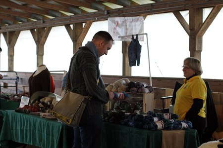 Vendors at the Maryland Alpacas and Fleece Festival