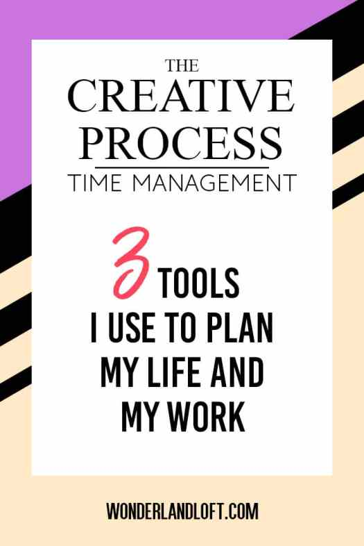 The Creative Process - 3 tools I use to plan my life and my work